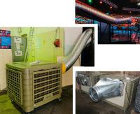 """Охладитель воздуха испарительного типа """"JHCOOL"""" модели JH18CP2-S. Использование как мобильный вариант."""